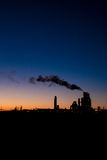 Industrial plant on the sunset Royalty Free Stock Photo