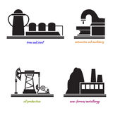 Industrial plant  vector Royalty Free Stock Images