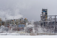 Industrial Plant in Winter Stock Photos