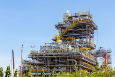 Industrial plants are currently under construction Royalty Free Stock Photos