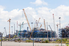 Industrial plants are currently under construction Stock Image