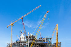 Industrial plants are currently under construction Royalty Free Stock Image