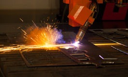 Industrial plasma cutting machine Royalty Free Stock Photography