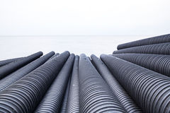Industrial plastic pipe Royalty Free Stock Photos