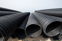 Industrial plastic pipe Royalty Free Stock Photography