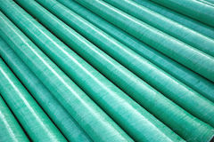 Industrial plastic pipe Stock Images