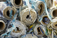 Industrial plastic roll bulk waste recycling Stock Photo