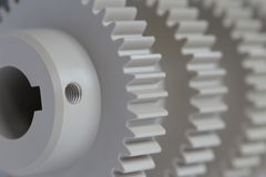 Industrial Plastics gears Royalty Free Stock Image