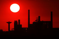 Industrial platform Stock Image
