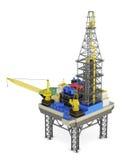 Industrial platform offshore . 3d rendering Royalty Free Stock Image