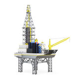 Industrial platform offshore . 3d rendering Royalty Free Stock Photography