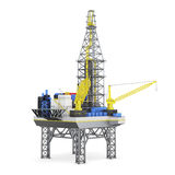 Industrial platform offshore isolated. 3d rendering Royalty Free Stock Images