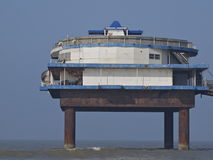 Industrial platform at sea. At the coast of Scheveningen, the Netherlands Stock Photos