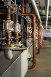 Industrial plumbing inside royalty free stock image