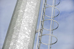 Industrial pole ladder Royalty Free Stock Photography
