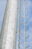 Industrial pole ladder Stock Image