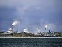 Industrial Zone Air Pollution Scene.