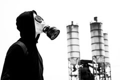 Industrial pollution Stock Image