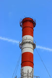 Industrial pollution chimney without a smoke Stock Photo