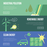 Industrial pollution. Renewable and clean energy. Stock Photos