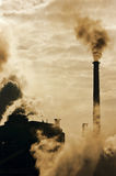 Industrial polution. Pollution effect from industrial factory Royalty Free Stock Photos