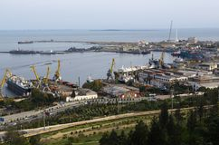 Industrial port in Baku Royalty Free Stock Photo