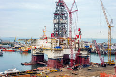 Industrial port, Baku Stock Photo