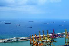 Industrial port of Barcelona Stock Photography