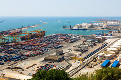 Industrial port of Barcelona Royalty Free Stock Photography