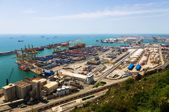 Industrial port of Barcelona Royalty Free Stock Image