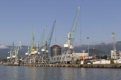 Industrial port in Batumi, Georgia Stock Photography