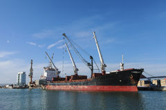 Industrial port with cargo Royalty Free Stock Photo