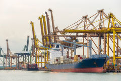 Industrial port container ship Stock Photography