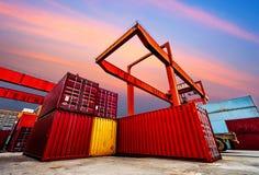 Industrial port Stock Image