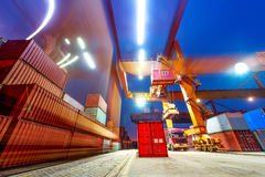 Industrial port with containers in the China. Industrial port with containers in the cargo Royalty Free Stock Photos
