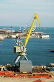 Industrial port with cranes Stock Image
