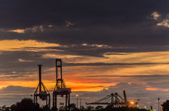 Industrial Port Royalty Free Stock Photography
