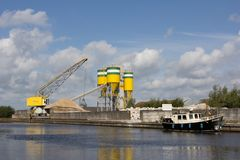 Industrial port in Hoogeveen Royalty Free Stock Images