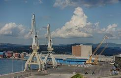 Industrial port of Koper in Slovenia Stock Photography