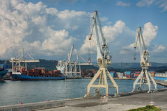 Industrial port of Koper in Slovenia Royalty Free Stock Photography