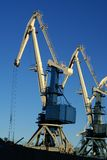 Industrial port large cranes Stock Photography