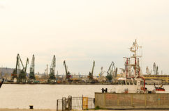 Industrial port Royalty Free Stock Photos