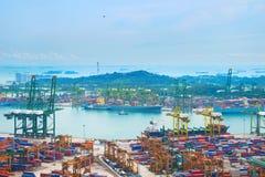 Industrial port Singapore Stock Photos