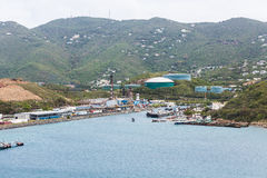 Industrial Port in St Thomas Stock Photo