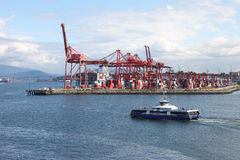 Industrial port of Vancouver BC Canada. Royalty Free Stock Images