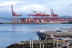 Industrial port of Vancouver BCCanada. royalty free stock photo