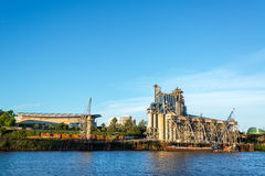 Industrial Portland Waterfront Royalty Free Stock Photos