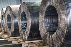 Industrial power electric cable Royalty Free Stock Photos
