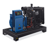 Industrial power generator. Illustration of industrial diesel power generator Royalty Free Stock Image