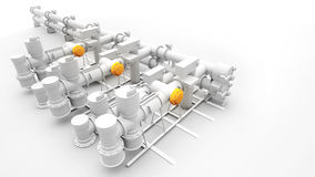 Industrial power generator and machinery. Design of industrial power generator and machinery Royalty Free Stock Photo